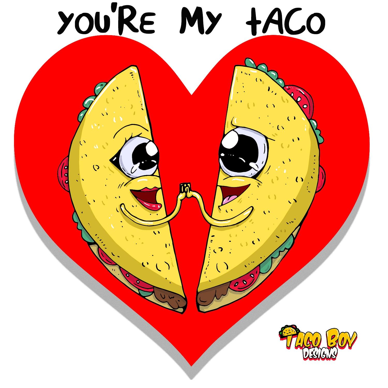 5ec00373d14 Taco love print · Taco Boy Designs · Online Store Powered by Storenvy