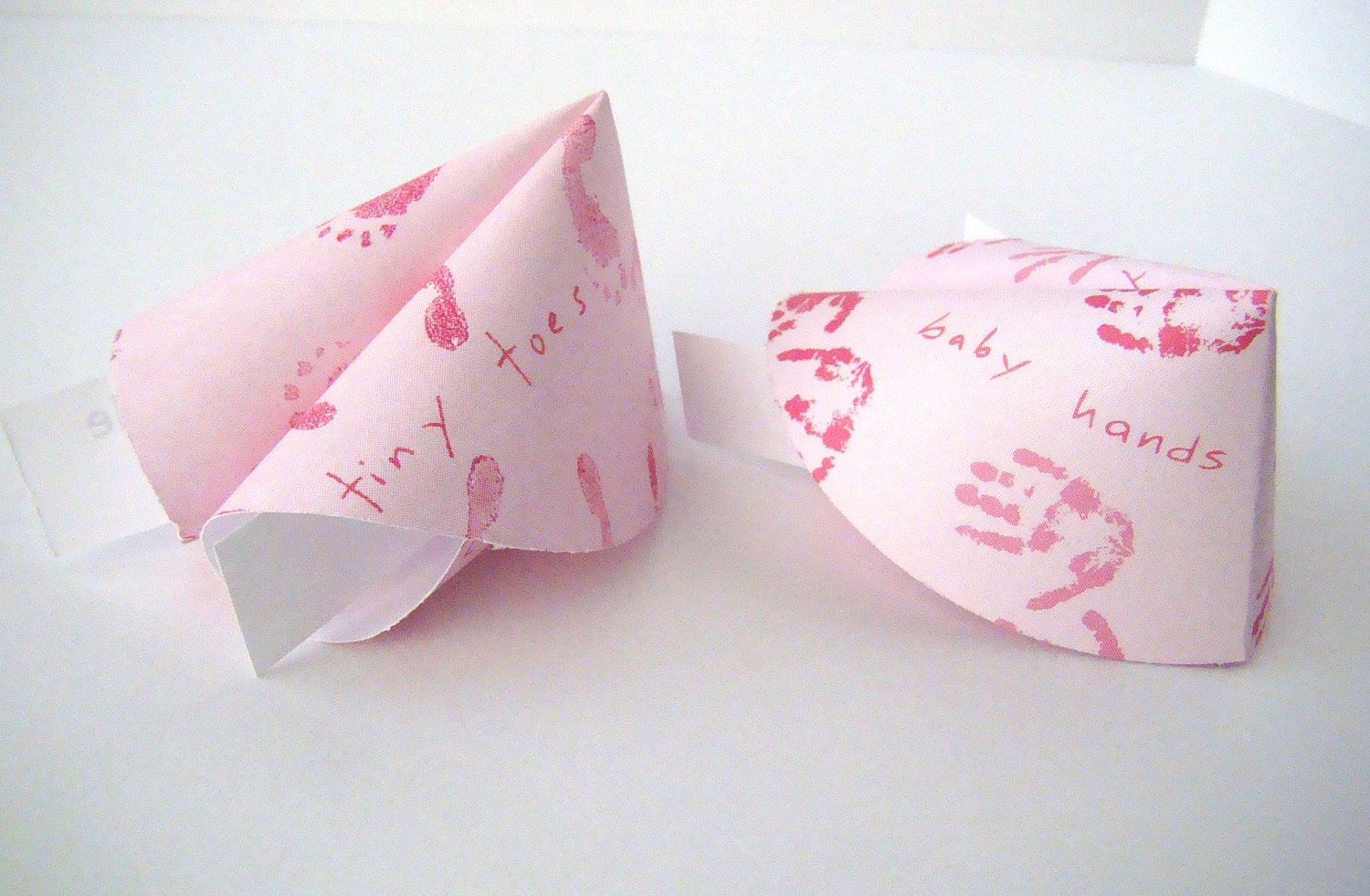 girl baby shower origami fortune cookies set of 25