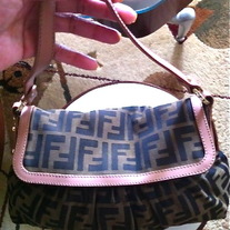 "Vintage Fendi ""Zucca"" Hobo Chef Bag in Great condition"