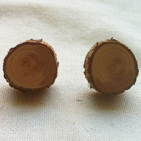 Wood Post Earrings
