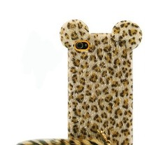 iphone 4G Design #696, Leopard Partten Plush Covered With Tail