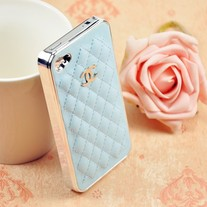 NEW LUXURY BRAND IPHONE LEATHER HARD CASE Light Blue