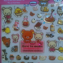 Rilakkuma Chocolate Sticker - Bakery [SE08304]