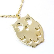 Little Golden Owl Necklace