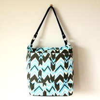 Zippered Chevron Hobo Bag - Mother's Day Special - Was $75 Now $50