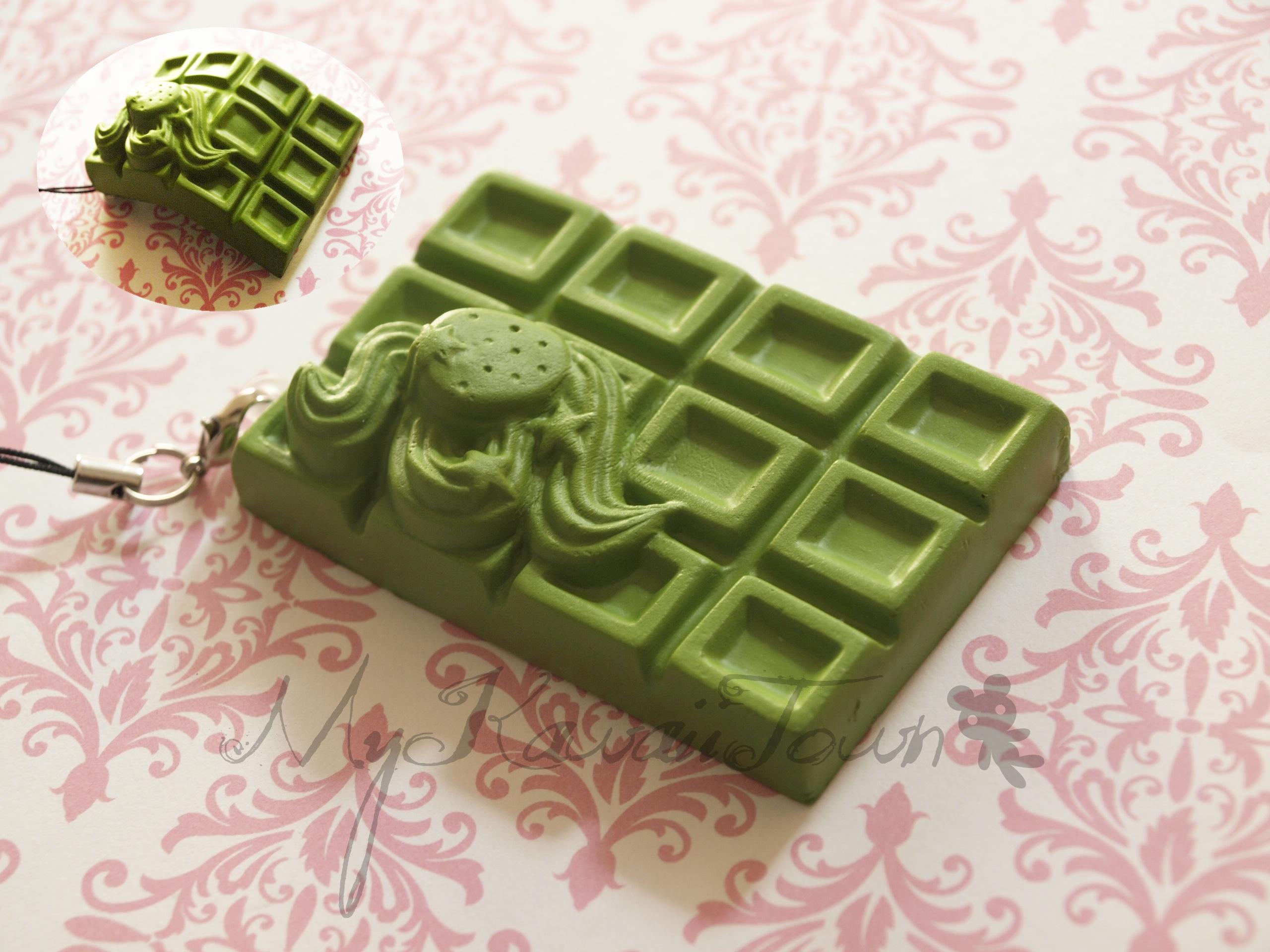 Squishy Cracking Chocolate Bar : Mykawaiitown Squishy Green Strawberry Cracking Chocolate Bar Online Store Powered by Storenvy