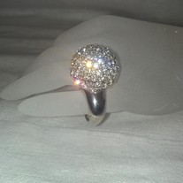 Silver Mirror Ball Ring