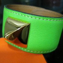 "HERMES ""Medor"" Bracelet Green Leather! GORGEOUS!!!! ""For a true fashionista ;)"""