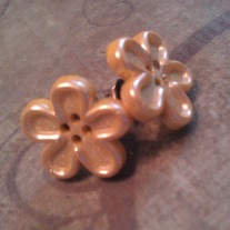 Yellow Flower Button Earrings