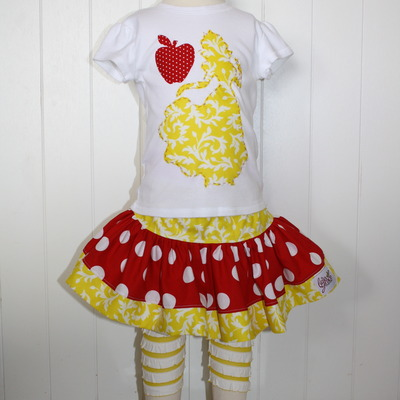 Snow white shirt and skirt set