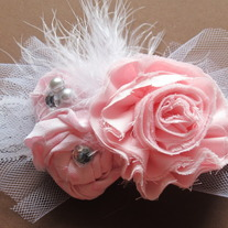 Pink and Feather headband