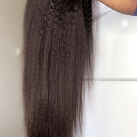 Blow-dry kinky human hair wig  - Thumbnail 1