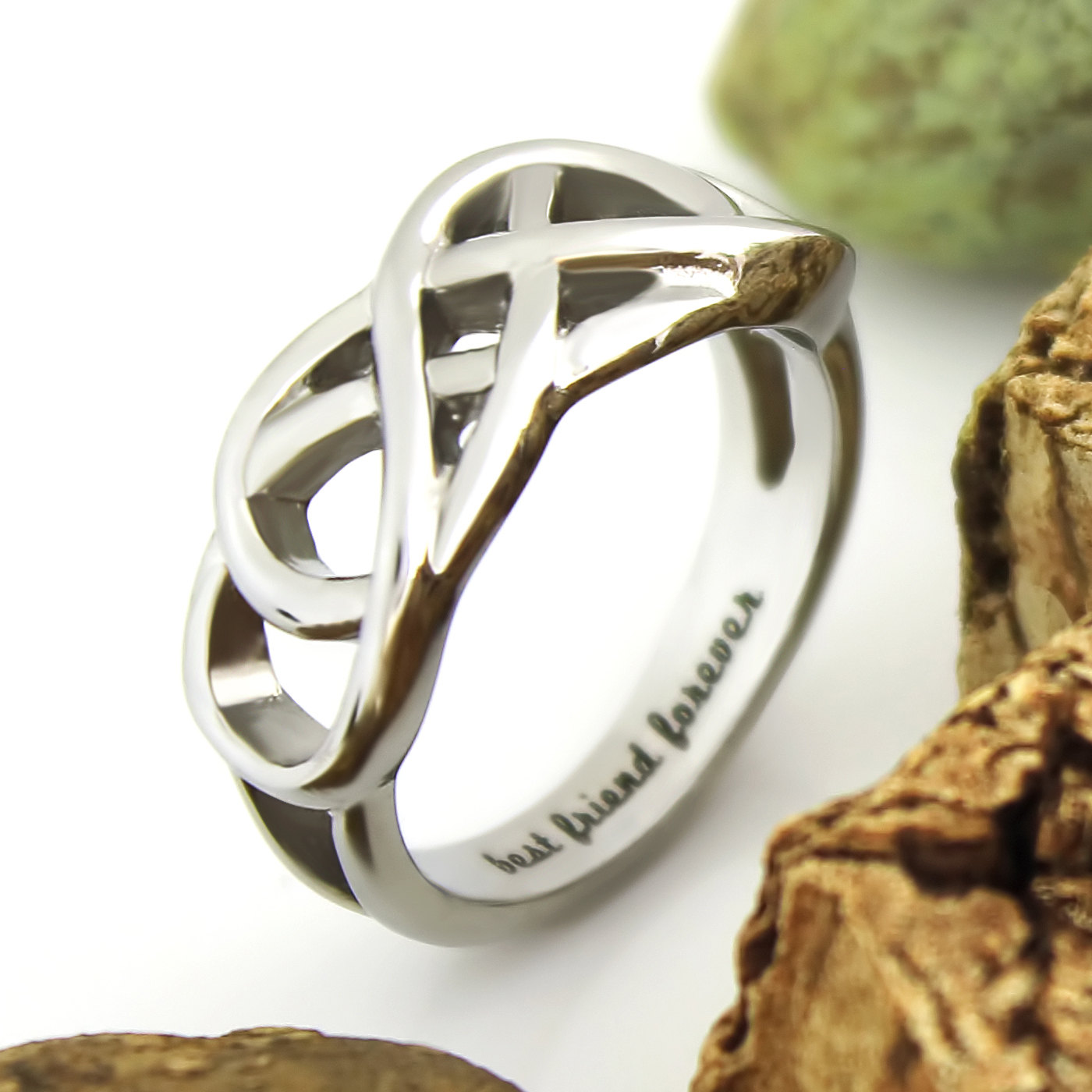 Tzaro Jewelry Friends Infinity Ring Promise Ring Double Infinity