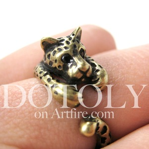 Miniature Leopard Animal Ring in Bronze Sizes 4 to 9 available