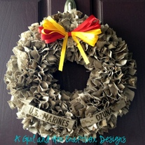 USMC Desert Cammie Wreath WITH Nametapes
