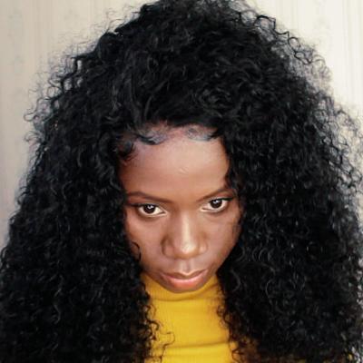 Handmade pretty curly human hair wig