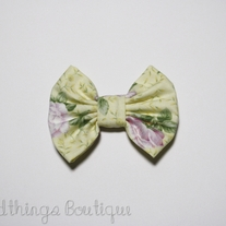 Purple & Yellow Floral Bow