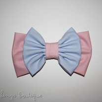 Vanilla Cotton Candy Double Bow