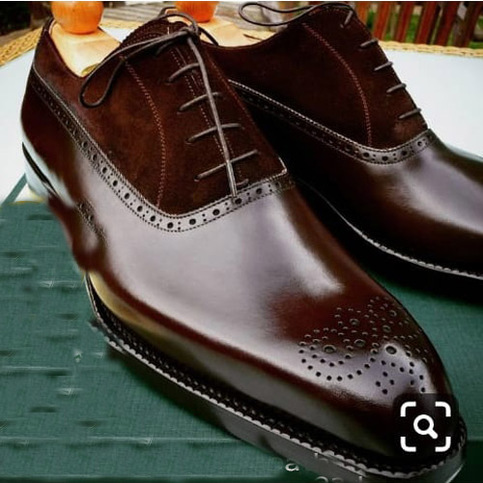 mr leather amazing men's chocolaty leather shoes for sale
