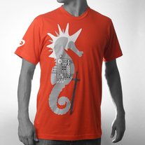 Men's Seahorse Knight - Orange