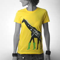 Women's Fashionista Giraffe - Yellow