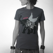 Women's Winged Elephant - Dark Grey