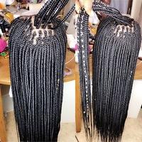 Closure box braids wigs  - Thumbnail 1