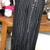 Style Me Box Braids Closure Wig (Handmade) - Thumbnail 3