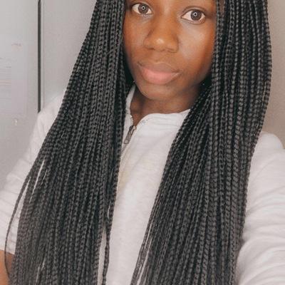 Box braids wig (handmade)