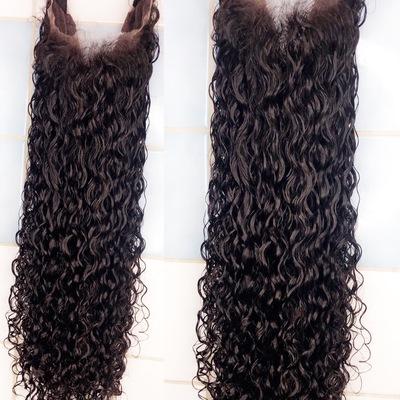 Pretty curly raw human hair wig