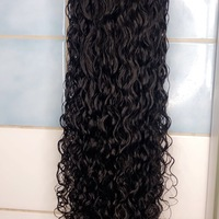 Pretty curly Raw Human Hair Wig  - Thumbnail 3