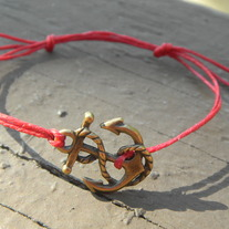 Brass Anchor Bracelet in all colors