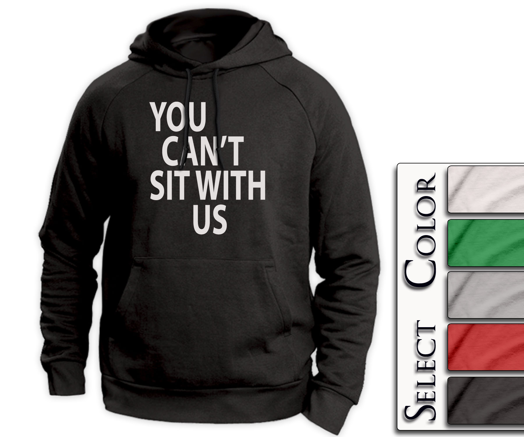 Mean Girls Hoodie - you can't sit with us tshirt mean kids lunch tee - A138