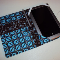 Kindle or Nook Cover Blue Brown
