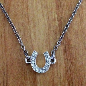 Rhinestone Horseshoe Necklace
