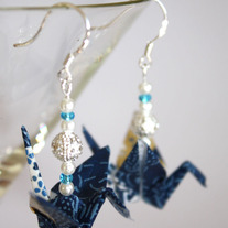 Origami Earrings - Blue
