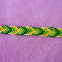 Green Leaves Braided Friendship Bracelet