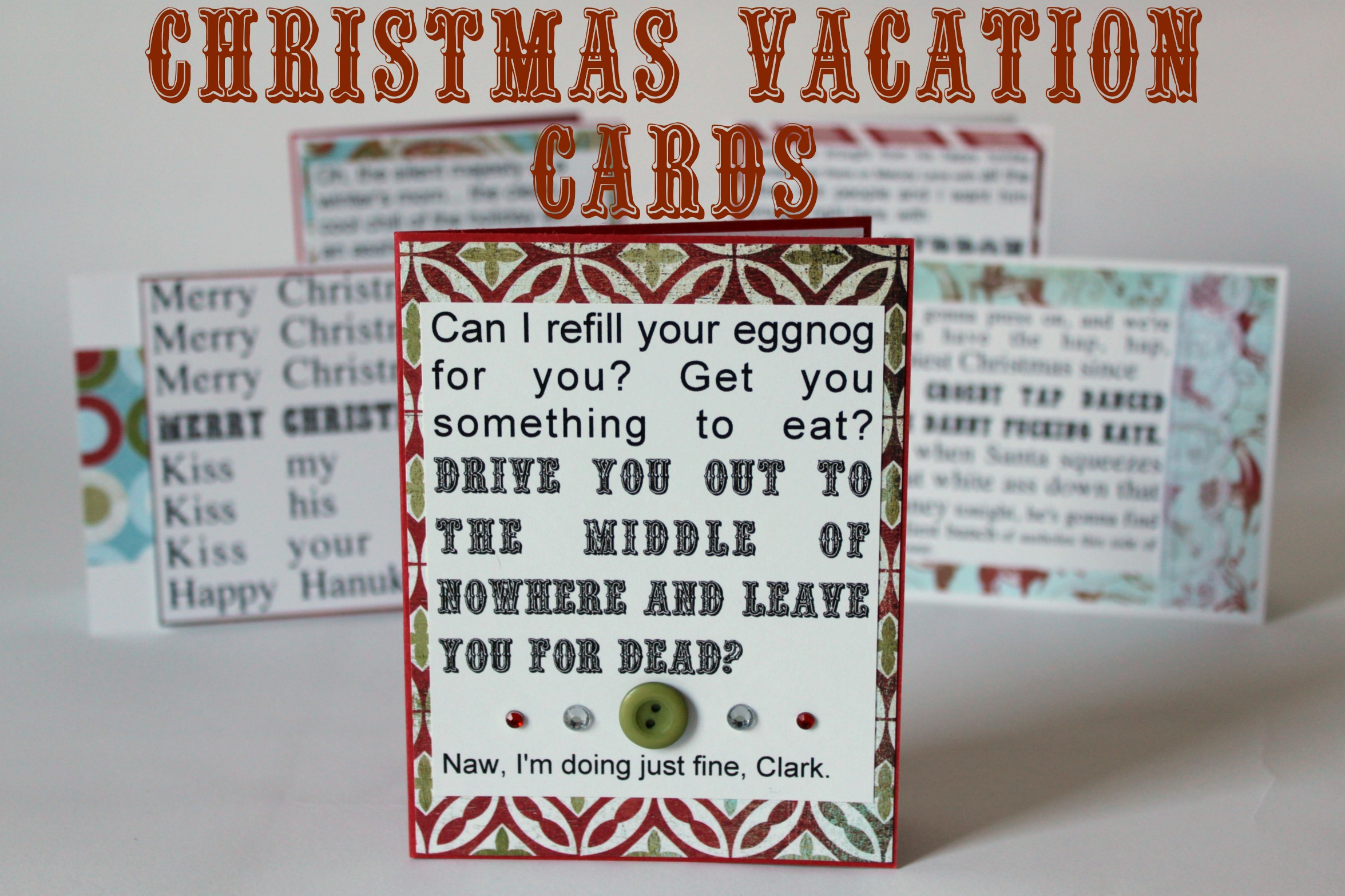 Christmas Vacation Cards- Set of 5 · Say Anything Creations · Online ...