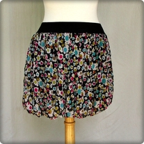 Printed Short Bubble Skirt