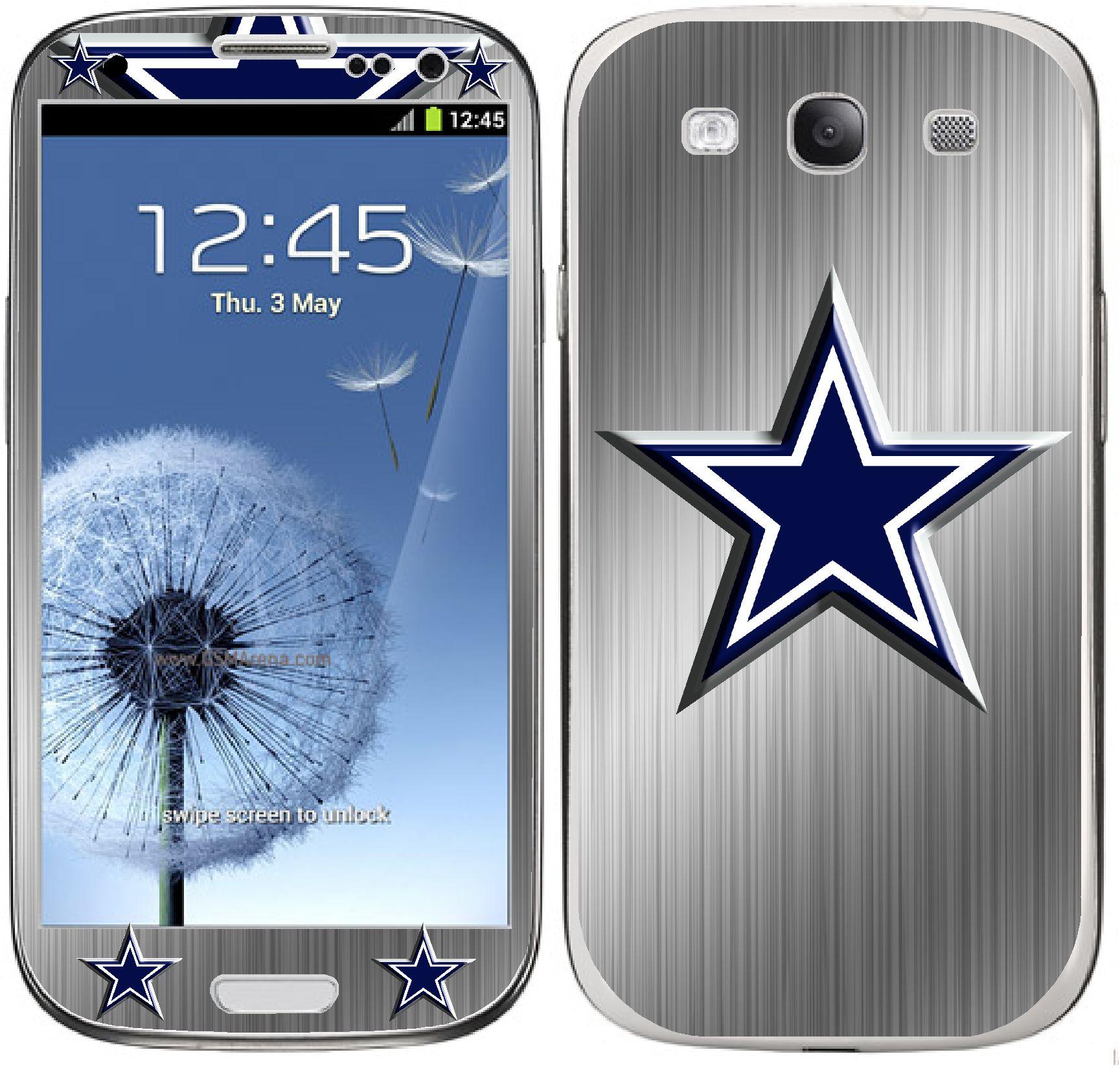 Samsung Galaxy S3 Dallas Cowboys Brushed Decal Skin On