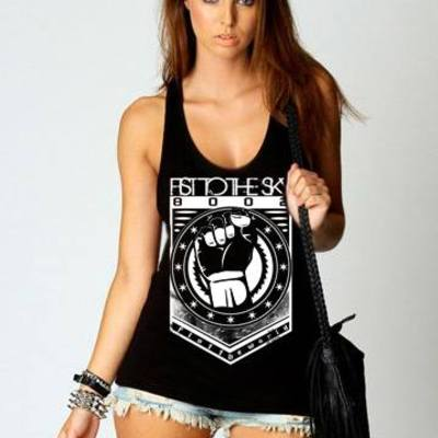 Fist the world racerback
