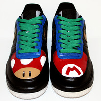 Super Mario Theme Nike Air Force 1s