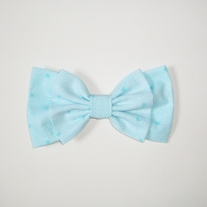Sky Blue Mini Hearts Bow