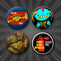 "Pack of 4 FIF 1.5"" Buttons"