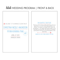 printable wedding program | hikoki