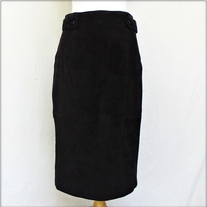 Long Silky Suede Pencil Skirt