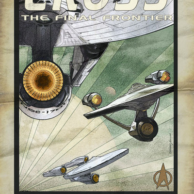 Cross the final frontier artist print
