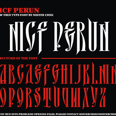 Perun font by mister chek [new]