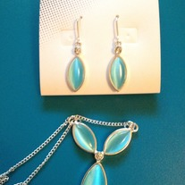 Sky Blue Necklace and Earrings Set