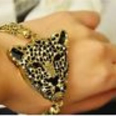 Cheetah face bracelet